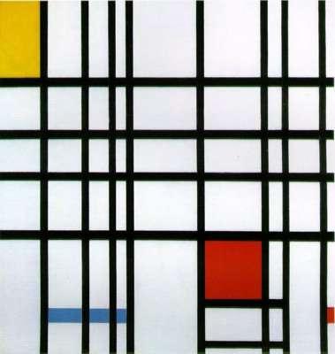 Piet Mondrian. Композиция с желтым, голубым и красным